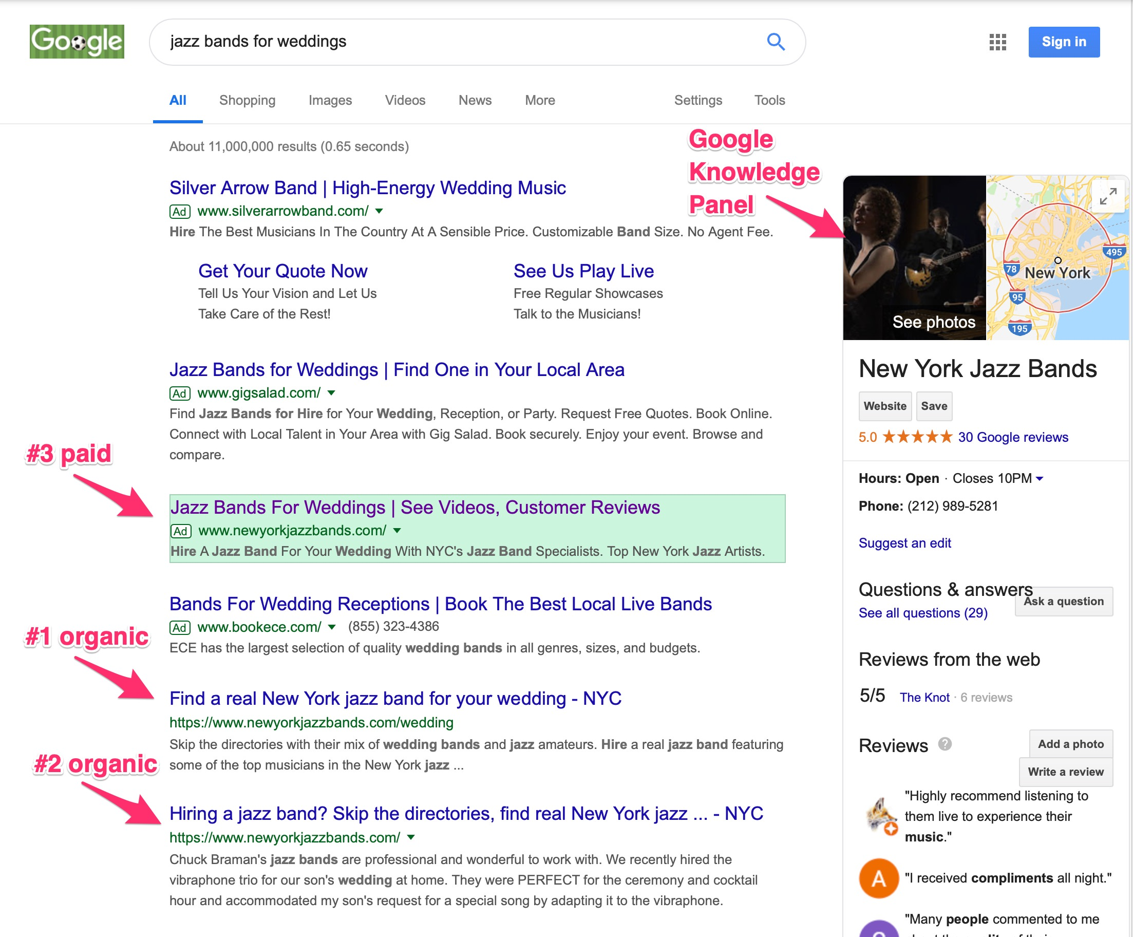 Search Engine Optimization Screenshots
